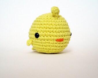 Bright Yellow Fat Bird-Amigurumi Bird