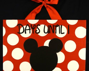 Disney Countdown Chalkboard Door Sign