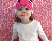 Maddie Moo Cow Hat-Newborn to adult sizes-winter hat- cow hat-photography prop-beanie