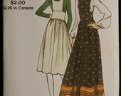 Vogue 8117 Misses Jumper PantJumper and Blouse Vintage 70s Sewing Pattern  Sz 14