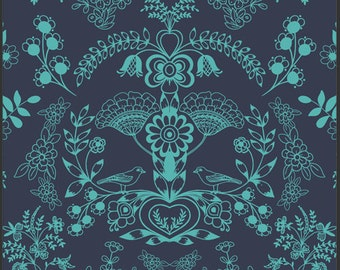 Modernology Floralism Deep Sea Fabric by Pat Bravo for Art Gallery Fabrics - 1 Yard