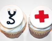 Fondant cupcake toppers Medical Graduate