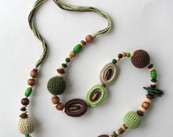 Summer Fiesta Crocheted Necklace