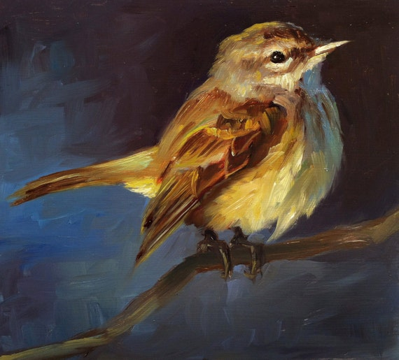 Bird oil painting | Etsy