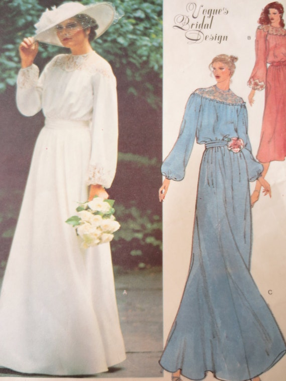 Items similar to vintage vogue 2017 sewing pattern 1970s for Wedding dress patterns 2017