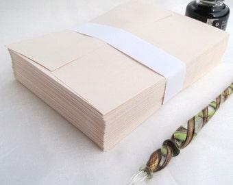 Vintage Champagne A2 Social Envelopes with Square Flap, 50 Pink Envelopes Note Card Size, rsvp wedding envelope