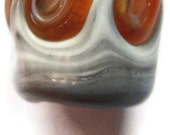 Orange Waves Dreadlock Beads - Glass lamp work SRA