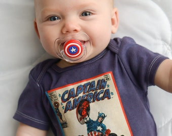 Baby America Custom Hand Painted Pacifier by PiquantDesigns