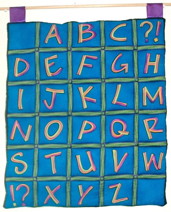 abc letters for wall items similar to blue alphabet quilted wall hanging 16688