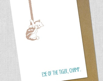 Eye of the Tiger Encouragement Card