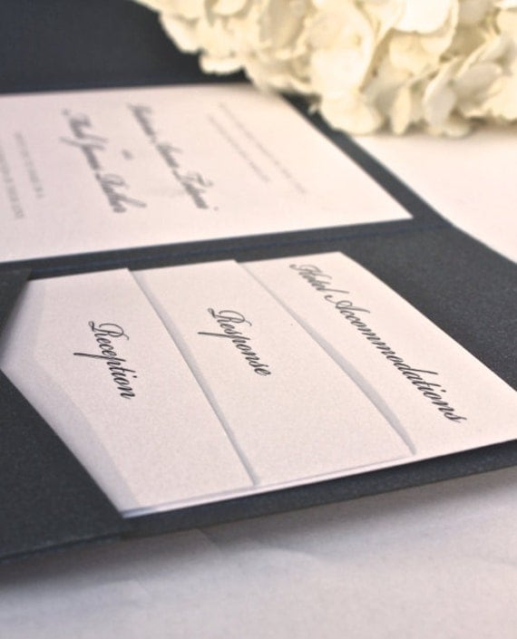 Wedding Invitation Folders With Pocket: Your Place To Buy And Sell All Things Handmade