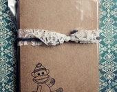 RESERVED Buyer tomcranford Sock Monkey, Brown Kraft Paper Cards