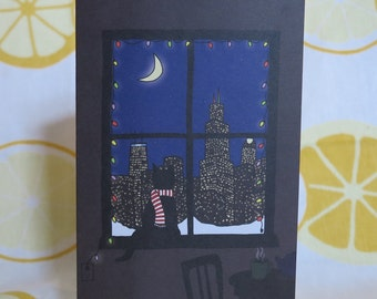 Cat in Chicago Holiday Cards - Set of 6