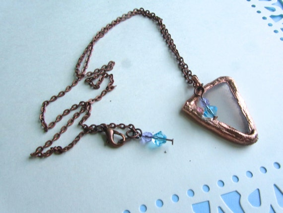Electroformed Sea Glass Necklace