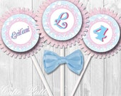 "Alice in Wonderland Party Cupcake Toppers, 2"" Custom Party Squares By Cutie Putti Paperie"