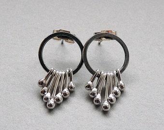Sterling silver earrings. Silver studs. Stud earrings. Silver post earrings. Silver jewellery. Handcrafted