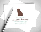 Funny Easter card. Chocolate Bunnies. Printable Easter Card. Easter Bunny Card. Happy Easter Card. Instant Download. Digital Download.