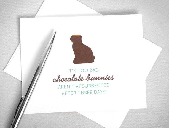 Funny Easter Card. Chocolate Bunny. Printable Easter Card. Easter Bunny Card. Happy Easter Card. Easter Instant Download. Digital Download.