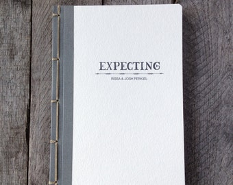 "Made to Order Personalized ""Expecting"" Journal- Choose Your Own Binding"