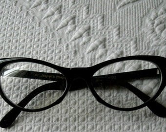 Cateye Glasses Dr. Jeepers Peepers Classic Black Embellished Bling Ready to Wear No Prescription