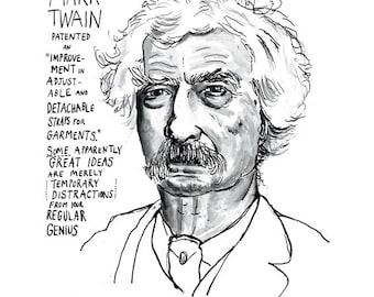 Mark Twain Poster Print  Literary Heroes