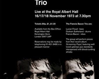 Francis Bacon Trio Concert Poster Print Great 20th Century Artist