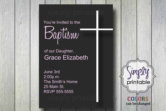 Girl Baptism Invitation Printable