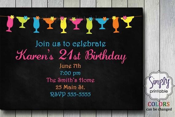 Birthday Invitation Cocktail Party BBQ