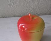 Vintage Hazel Alas  Jelly Jam Jar Apple Shaped