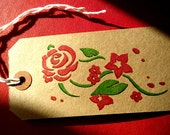 Gift Tag with Hand-drawn Floral Design