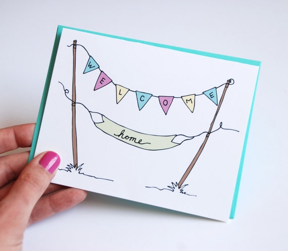 Items similar to welcome home card welcome home banners for Diy welcome home decorations