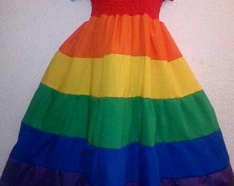 Smocked Rainbow Dress