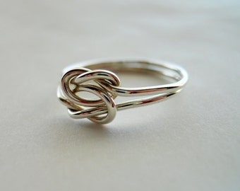 Love Knot 925 Sterling Silver Ring