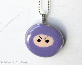 Purple Ninja Pendant Round