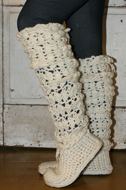 Crochet Ankle Boots Free Pattern : Crochet Boots Pattern5 Styles in 1LEGWARMER BOOTS