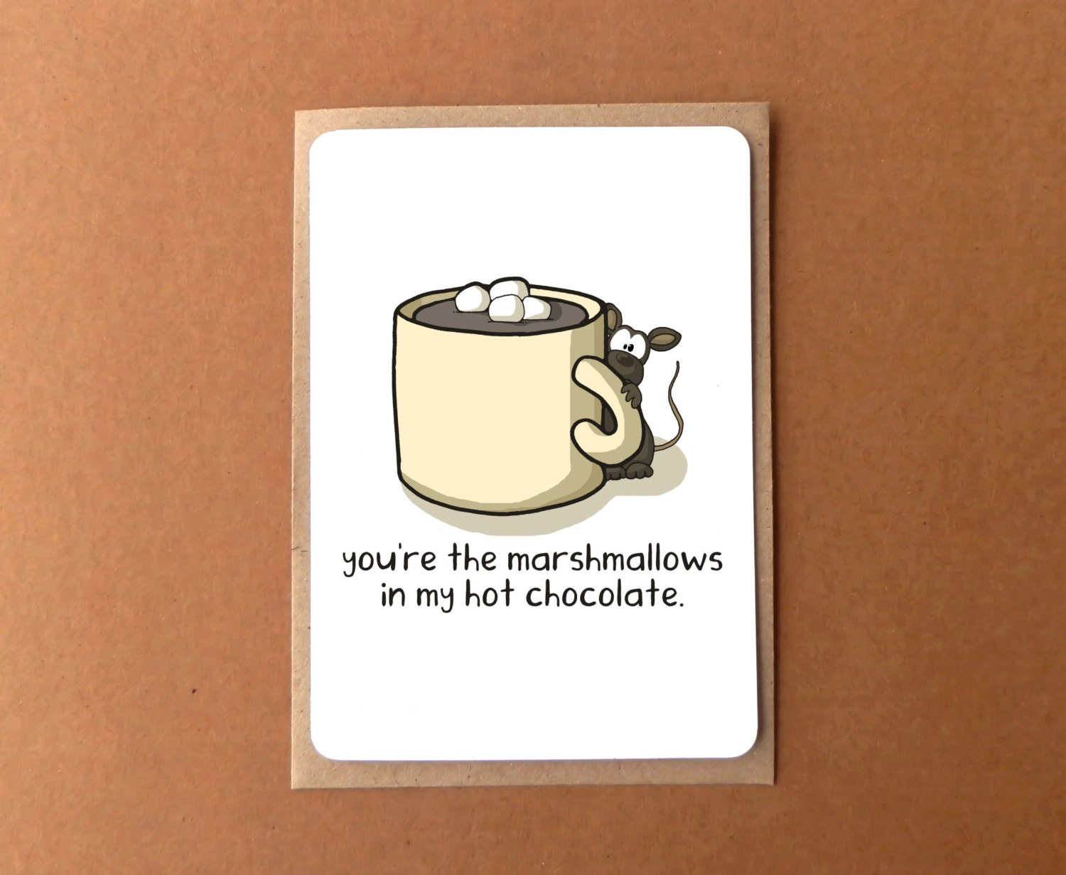 Greeting card with chocolate mouse youre my marshmallow i love greeting card with chocolate mouse youre my marshmallow i love you m4hsunfo