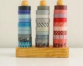 The Original Washi Tape Organizer - Wood Masking Tape Holder - Eco friendly Japanese Tape Dispenser for 30 rolls - under 50 gift