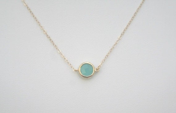 Mint necklace in goldmint opal necklace in goldmint like this item aloadofball Image collections