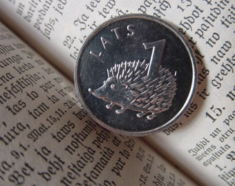 HEDGEHOG - Coin for Luck - Jewelry Making - Scrapbooking - Original Presents - Supplies - Collectibles Coin - Numismatics