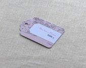 Vintage Map Place Tag - Luggage Tag Destination Travel Wedding Name Card - Escort Card - Custom Colors
