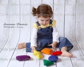 PATTERN Learning Playset Crochet PATTERN - Shapes and Colors Toys