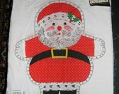 Vintage Christmas in July Santa Cut n' Sew Pillow Pal with original F.W. Woolworth Label