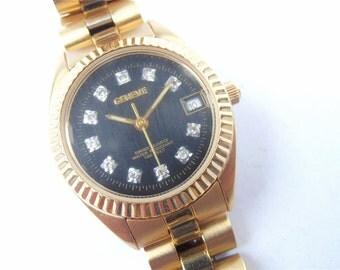 Vintage Geneve Ladies Watch Geneve Ladies Gold Tone Watch Geneve Inspired Watch Geneve Dress Watch Fashion Accessory Geneve Crystal Watch