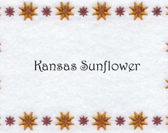 Custom Quilt Label Kansas Sunflower