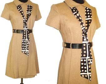Vintage 1960s Dress .  David Warren  . Couture Femme Fatale Mad Man Rockabilly Retro Pinup Bombshell Garden Party