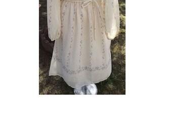 Vintage Ivory Summer Dress