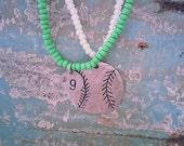 Double strand Baseball Necklace