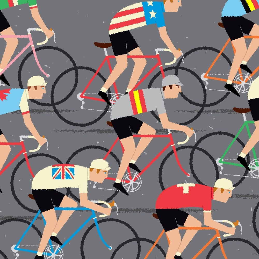 Cycling Art World Road Race Championship Cyclists Peloton by gumo