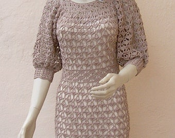 Crocheted dress  made to order, crochet handmade