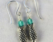Fish and Crystal Earrings